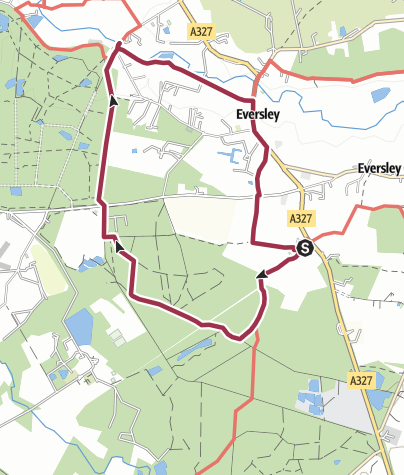 Map / Eversley Church and New Mill