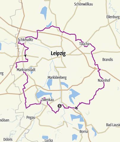 Karte / Äußerer-Grüner-Ring-Radroute
