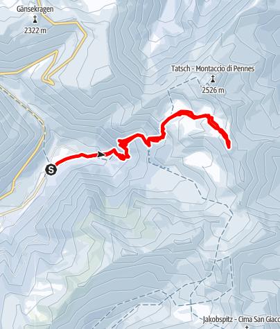 Karte / Auf die Nördliche Sulzspitze