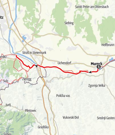 Map / 03 Südalpenweg, E02: Mureck - Ehrenhausen