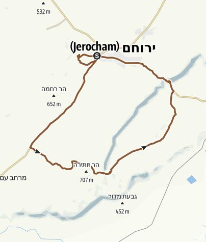 "Map / ירוחם מכתש גדול 45 ק""מ"