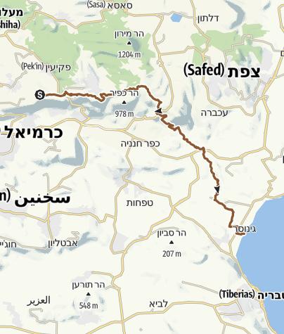 מפה / חרשים גינוסר