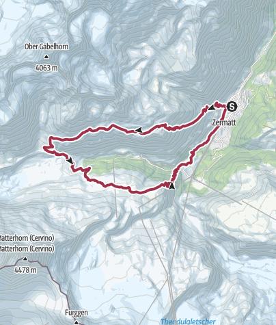 Mapa / Valle de Zermatt - Matterhorn