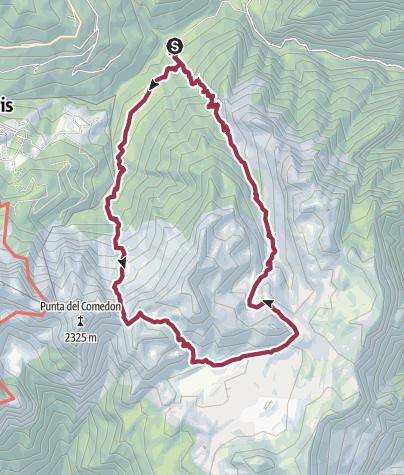 Mapa / Ruta Piani - Eterni-Errera - ValFalcina (Italia)