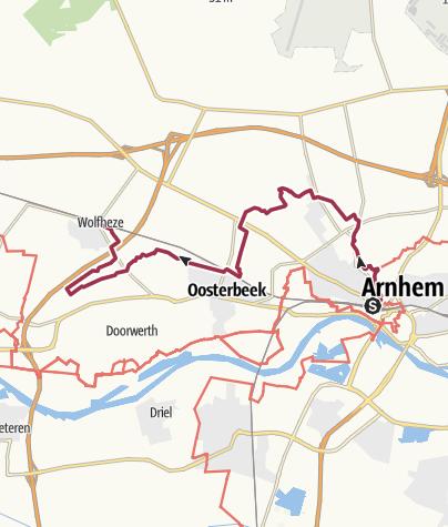 Map / NS-wandeltocht Arhem - Warnsborn