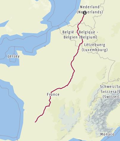 Map / Utrecht - Santiago de Compostella 1