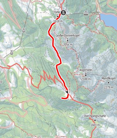 Karte / von der Gablonzer- zur Körner-Hütte