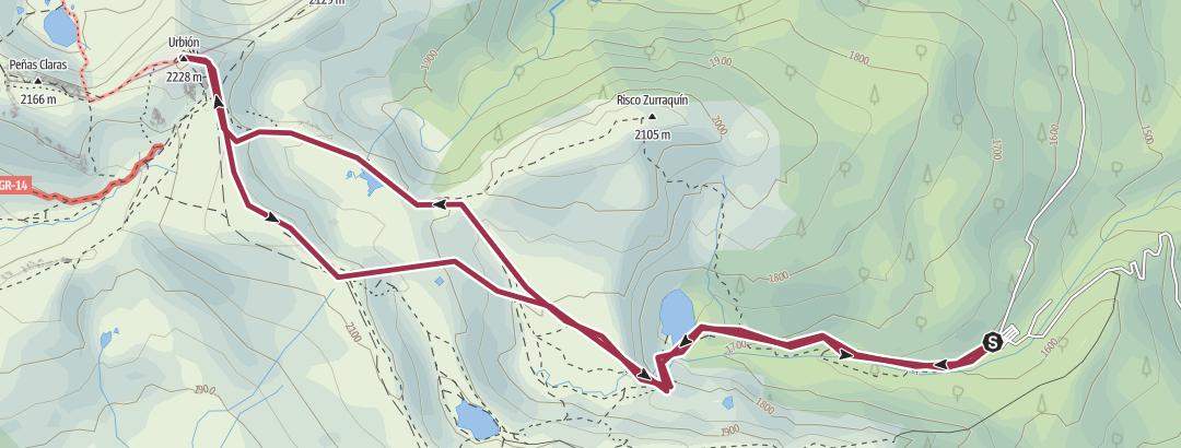 Map / PICO DE URBION desde LAGUNA NEGRA