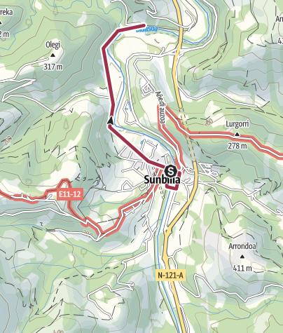 Map / Paseo por Sunbilla