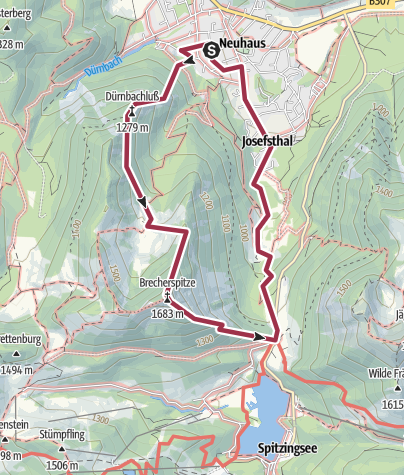 Map / Brecherspitze über Anklspitze