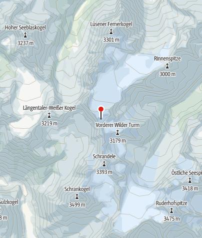 Karte / Wildes Hinterbergl über Berglasferner - gute Bedingungen