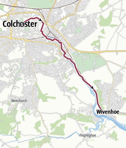Map / Colchester Castle Park to Wivenhoe