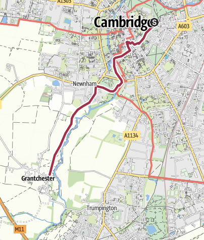 Map / Walk to Grantchester