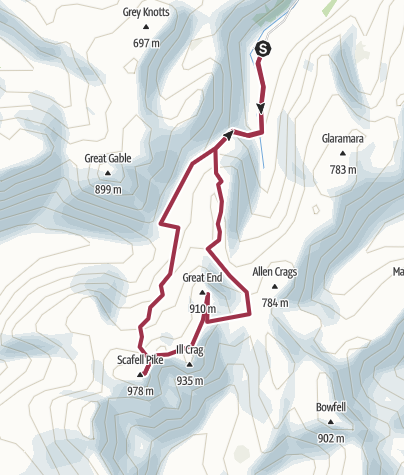 Map / Scafell Pike/Great End