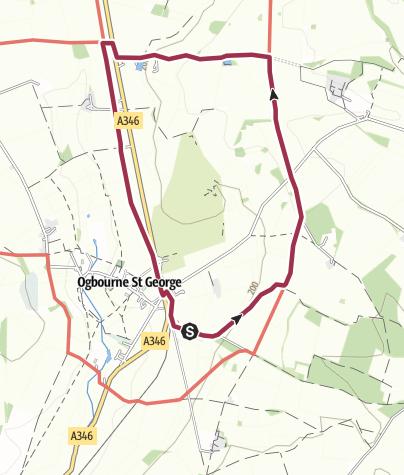 Map / Ogbourne St. George Ridgeway & Railway Path