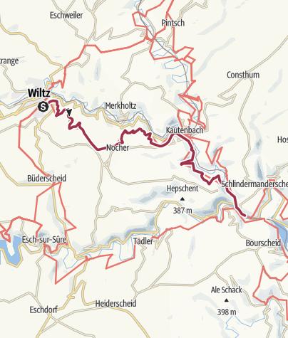 Map / Sentier de la Wiltz