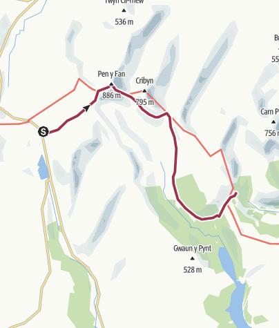 Map / Pen-y-Fan route - Free Version