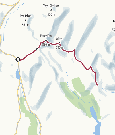 Map / Pen-Y-Fan to Torpantau