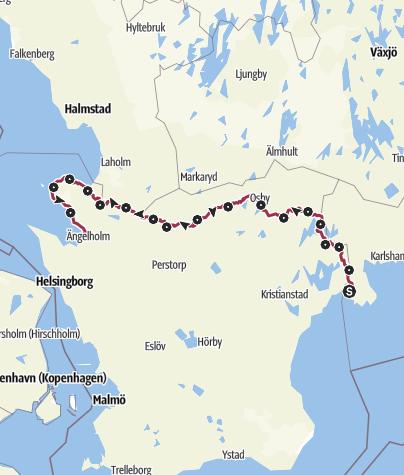 Map / Skåneleden – Kust till Kustleden – Gesamtroute