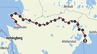 Karte / Skåneleden – Kust till Kustleden – Gesamtroute