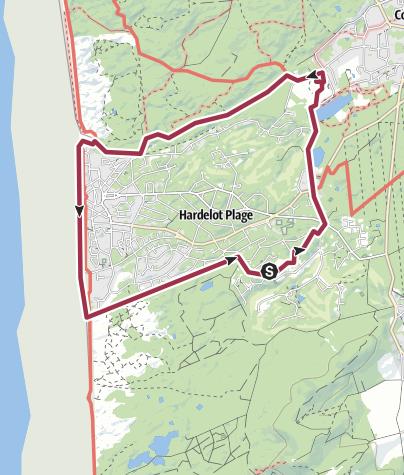Map / Le tour d'Hardelot