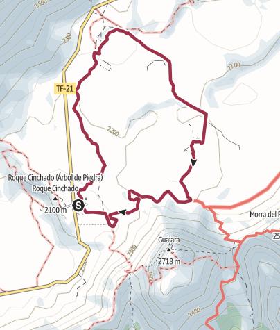 Map / Tenerife. Parador National circular ( Mt. Teide).
