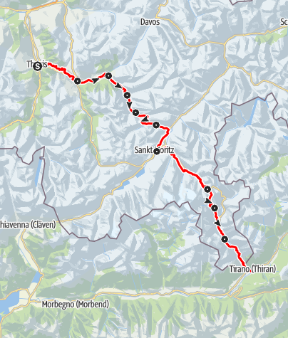 Map / 33 Via Albula/Bernina