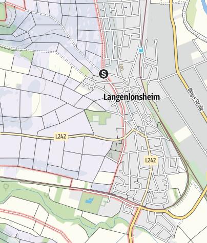 Karte / 2./3. Juni 2018: WeinWanderWochenende Langenlonsheim