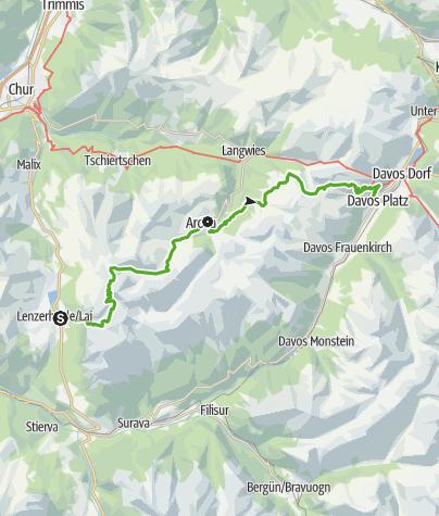 Karte / 54 Mittelbünden Panoramaweg (2 Etappen)