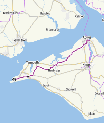 Map / Needles to East Cowes