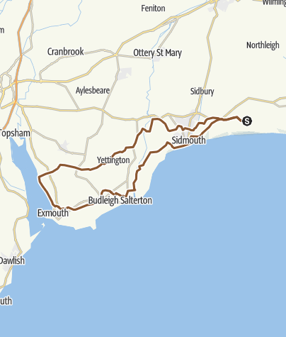 Map / Branscombe to Exmouth