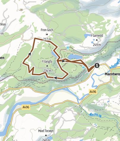 Map / tan y bwlch MTB
