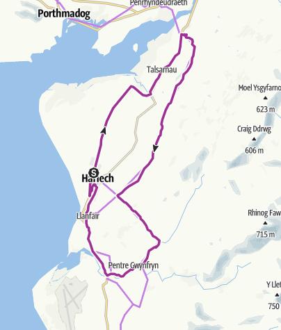 Map / Harlech Hill Climbs