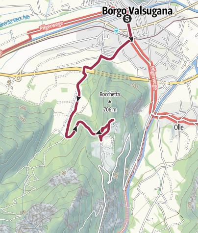 Map / Trekking La Rocchetta - from Località Piagaro