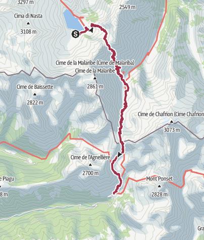 Map / Maritime Alps Circuit Day 4