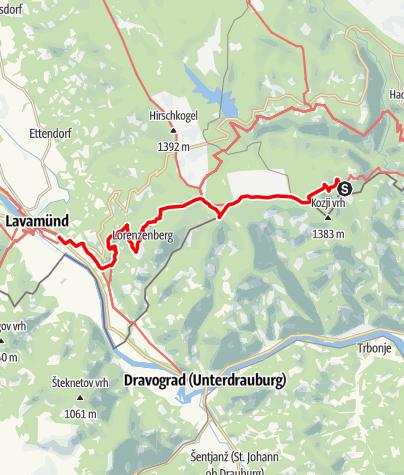 Map / 03 Südalpenweg, E06: Laaken - Lavamünd