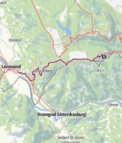 Karte / 03 Südalpenweg, E06: Laaken - Lavamünd
