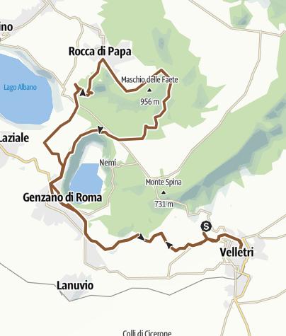 Map / Velletri,piagge,via sacra,velletri