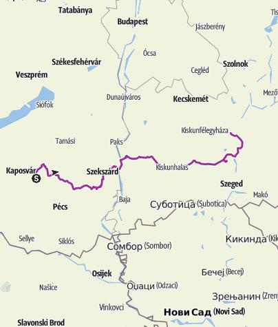 Map / Kőrösi bringatúra, 2008