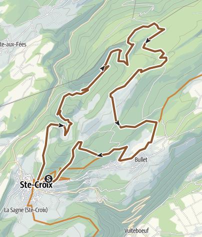 Carte / -Sainte-Croix-chasseron