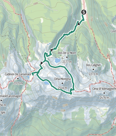 Cartina / I tre laghi