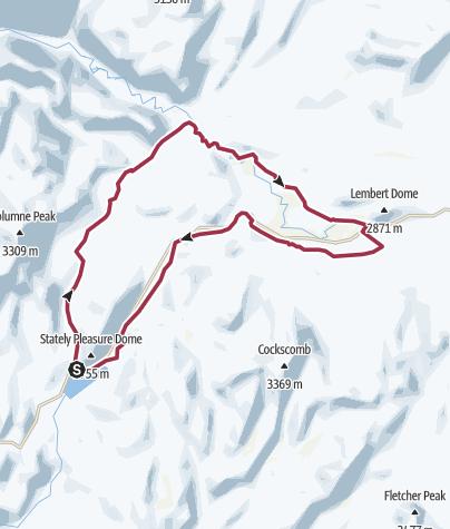 Map / Tenaya Lake - Tuolumne Meadows