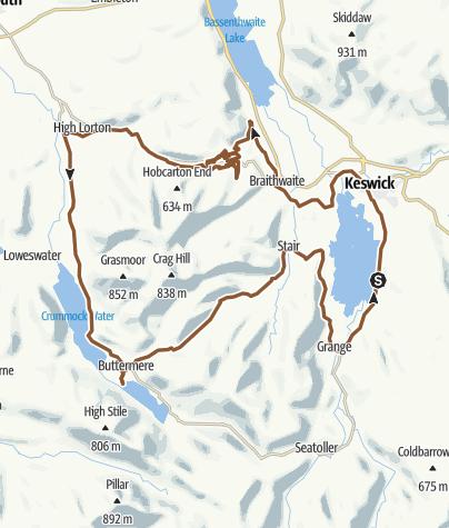 Map / Round Derwentwater