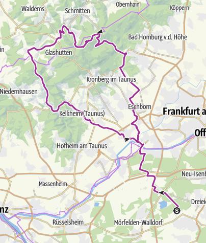 מפה / Langen-Feldberg-Runde