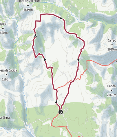 Map / TRAVESIA SIERRA DE AYLLON