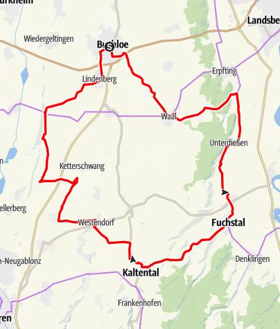 Karte / Kirchweihtal-Runde Schlosspark