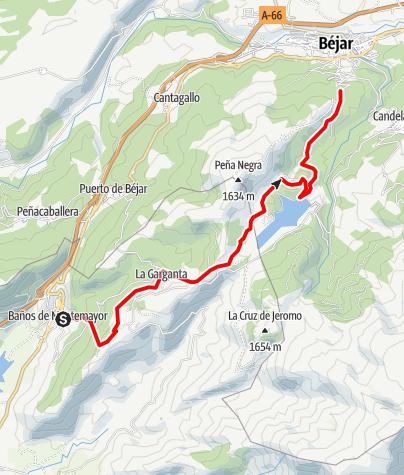 Map / baños de montemayor garganta