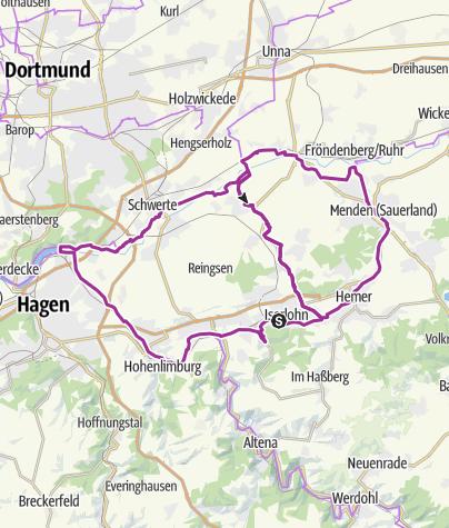 Map / RUHR-LENNE-Achter - große Radrunde zwischen Sauerland und Ruhrgebiet