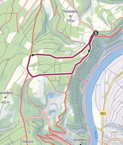 Map / Piesport - Panorama-Höhenwanderweg