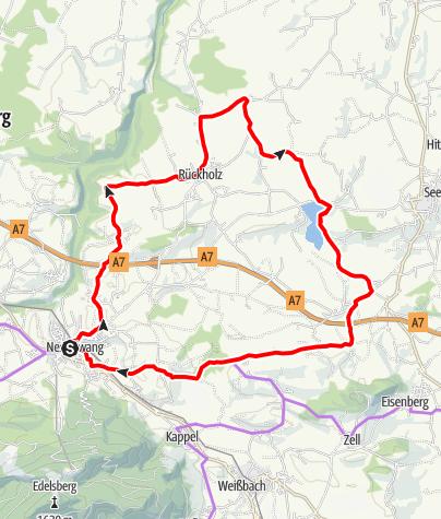 Karte / 8-Seen-Runde Schlosspark
